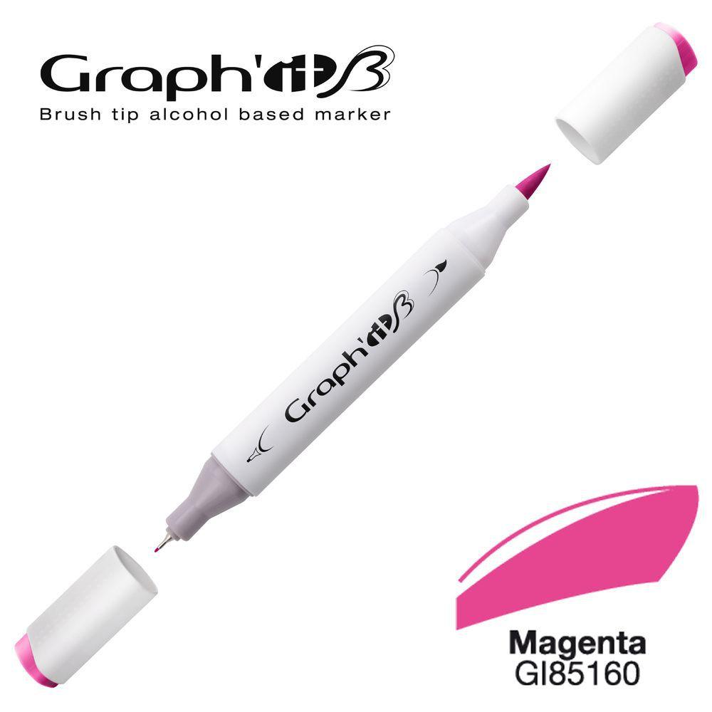 GRAPH\'IT Marqueur alcool brush 5160 - Magenta