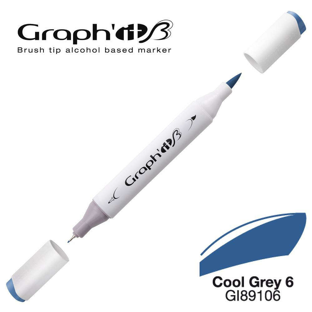 GRAPH\'IT Marqueur alcool brush 9106 - Cool Grey 6