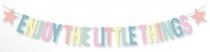 Guirlande de lettres à composer - Pastel