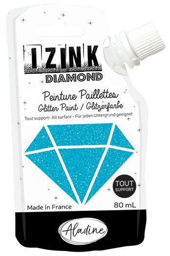 IZINK DIAMOND Peinture Paillettes - Bleu Caraibe