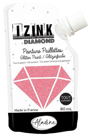 IZINK DIAMOND Peinture Paillettes - Corail