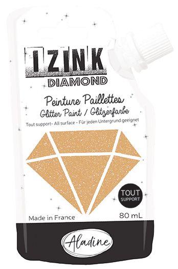IZINK DIAMOND Peinture Paillettes - Or Pastel
