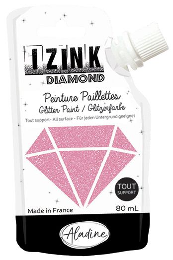 IZINK DIAMOND Peinture Paillettes - Rose Pastel