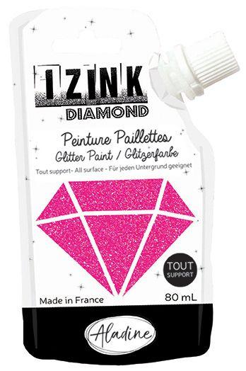IZINK DIAMOND Peinture Paillettes - Rose Pèche