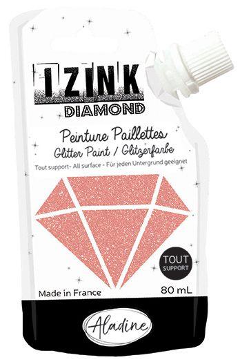 IZINK DIAMOND Peinture Paillettes - Rose Poudré