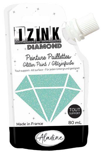 IZINK DIAMOND Peinture Paillettes - Vert Menthe