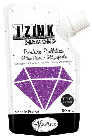 IZINK DIAMOND Peinture Paillettes - Violet