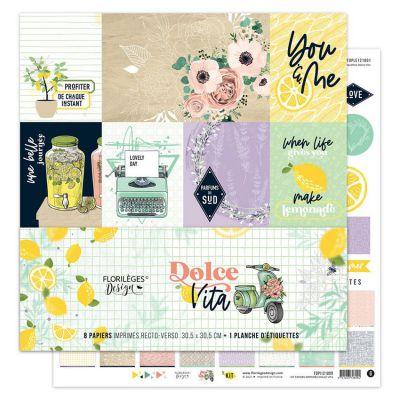 Kit papiers imprimés DOLCE VITA