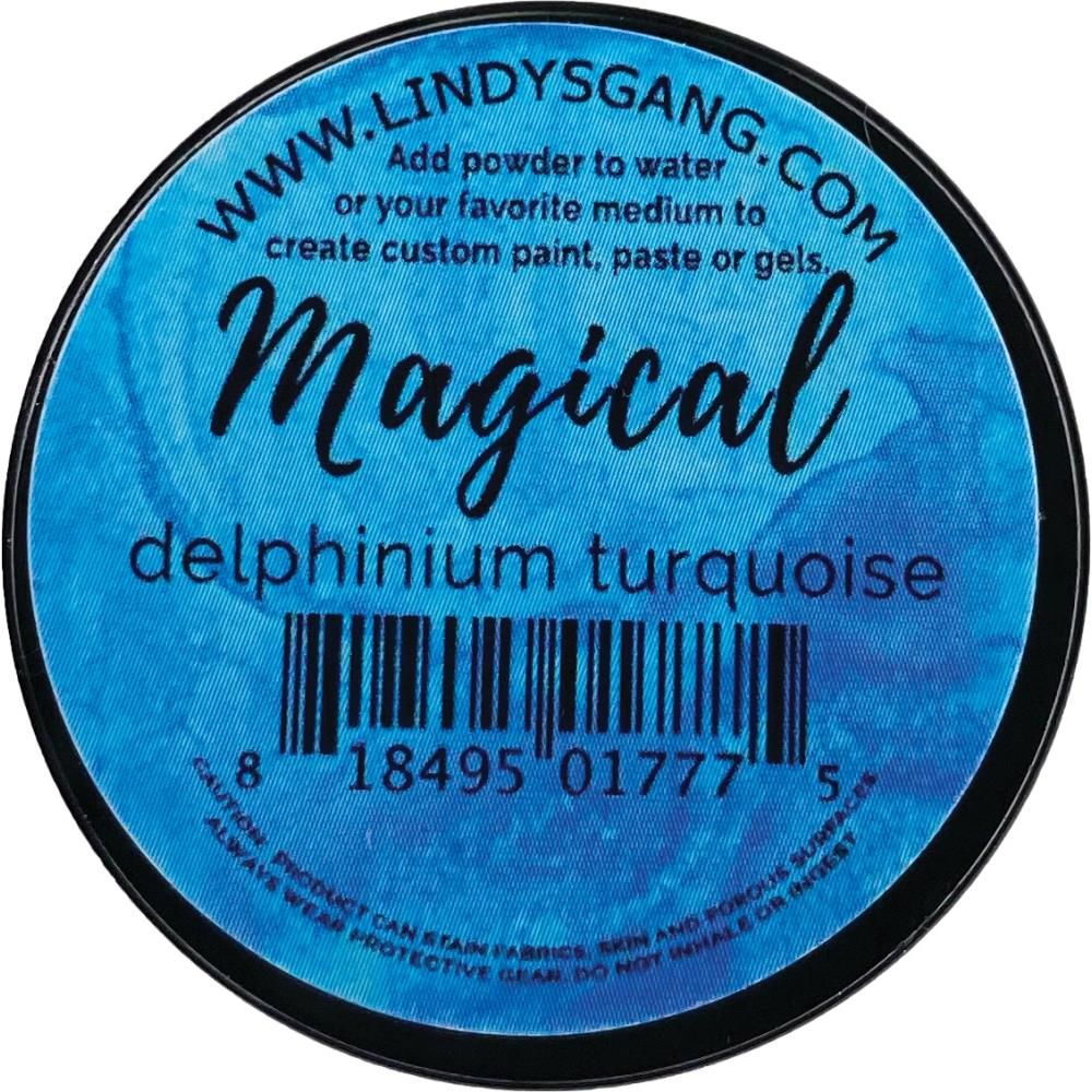 Lindy\'s Stamp Gang Magicals Individual Jar - Delphinium Turquoise
