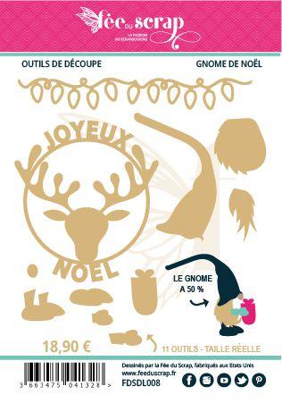 LOT DE 11 DIES GNOME DE NOEL