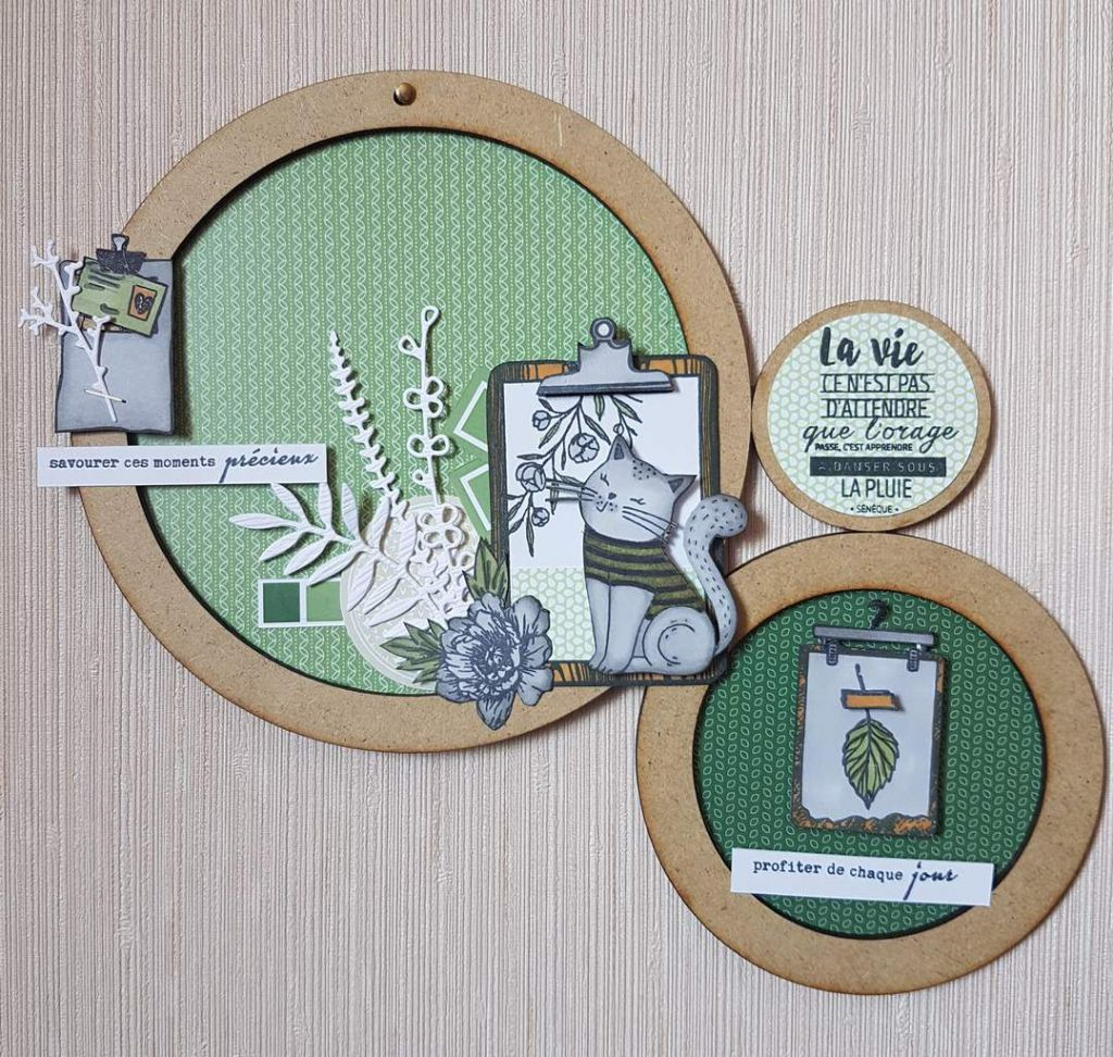 LOT DE 3 CERCLES A DECORER MDF 3 MM