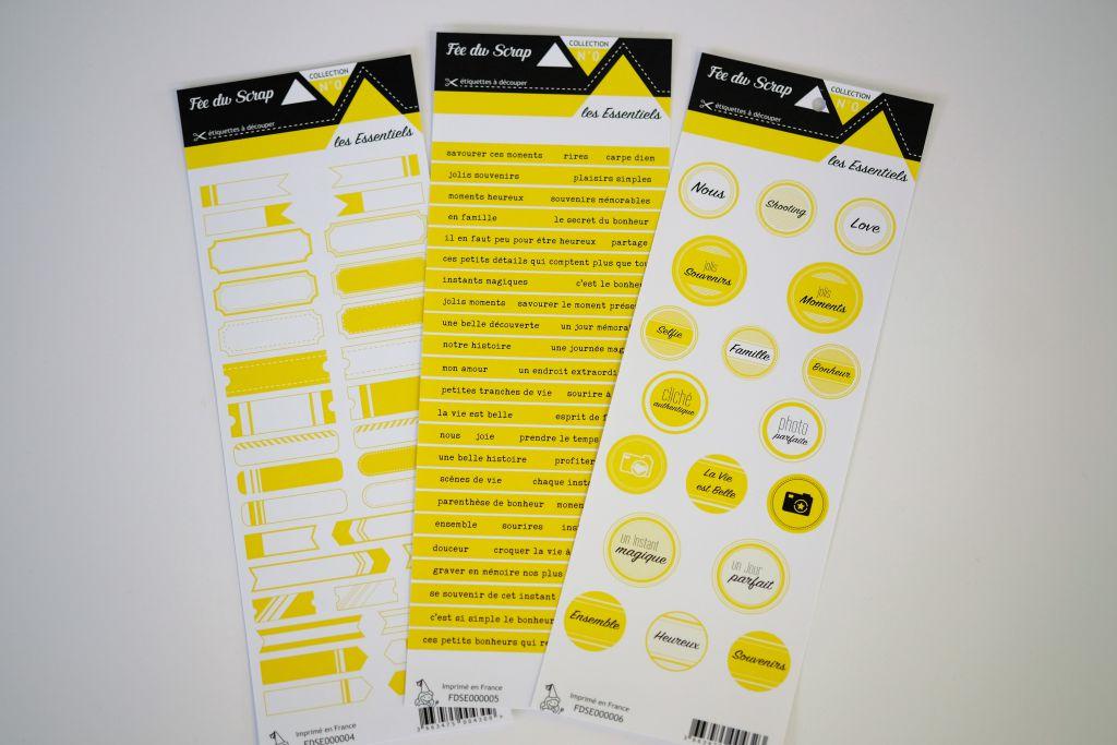 Lot de 3 étiquettes - jaune
