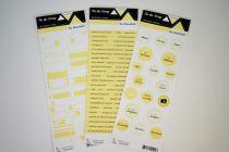 Lot de 3 étiquettes - jaune pâle