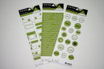 Lot de 3 étiquettes - vert foncé