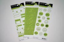 Lot de 3 étiquettes - vert