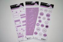 Lot de 3 étiquettes - violet moyen