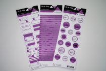 Lot de 3 étiquettes - violet