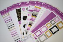 Lot des 10 étiquettes un air chic violet