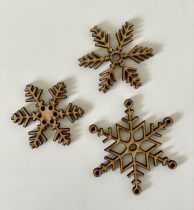 LOT EMBELLISSEMENTS EN BOIS - FLOCONS