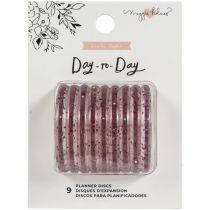 "Maggie Holmes Day-To-Day Planner Discs 1.5\"" 9/Pkg Pink Glitter"