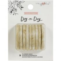 """Maggie Holmes Day-To-Day Planner Discs 1.5\"""" 9/Pkg Wood"""
