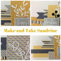 Make and Take 6 avril 10h30-11h30 mini album avec Sandrine