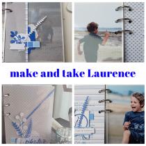Make and Take 6 avril 13h30-15h00 mini album avec Laurence