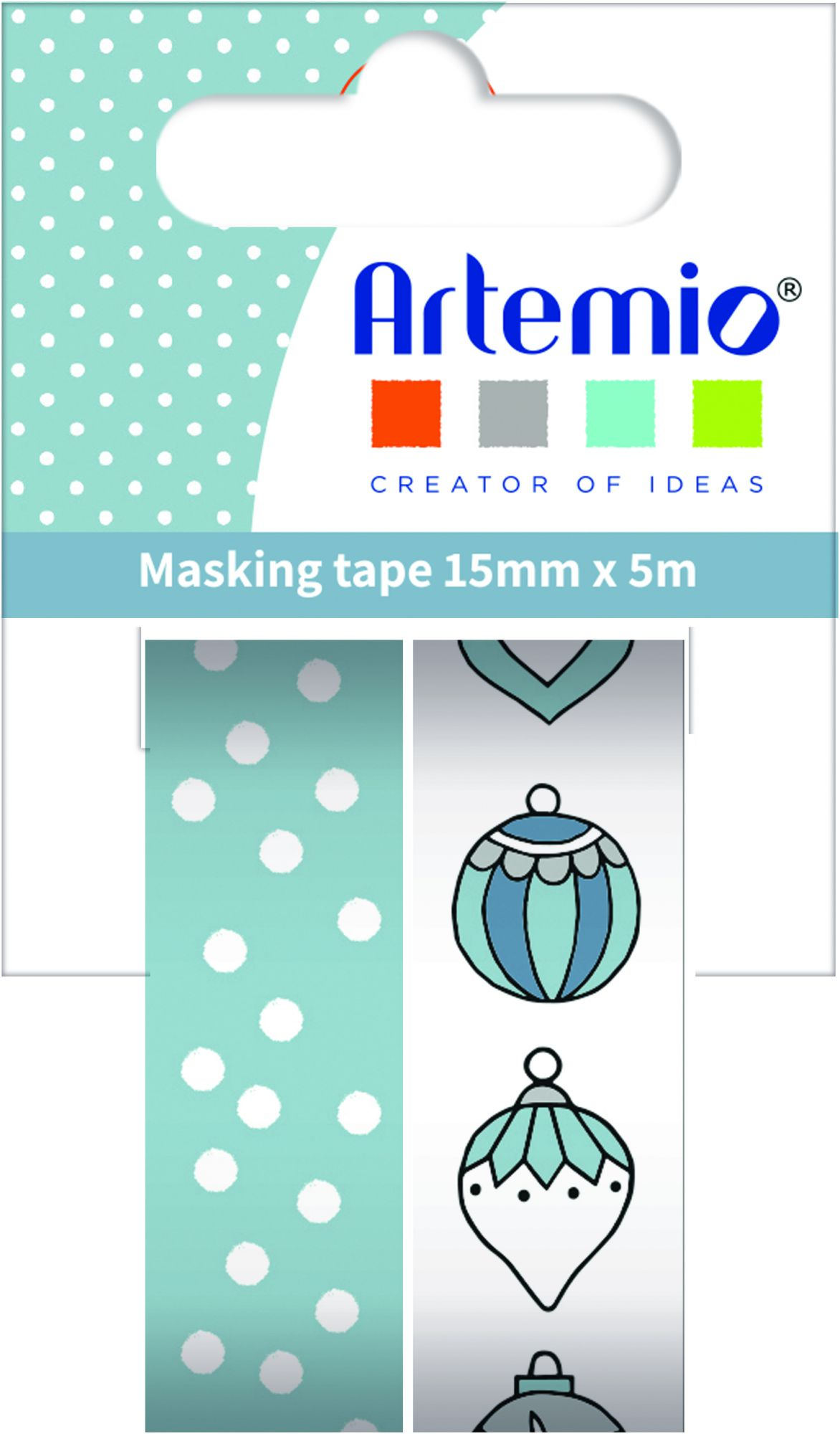 Masking tape cosy Christmas