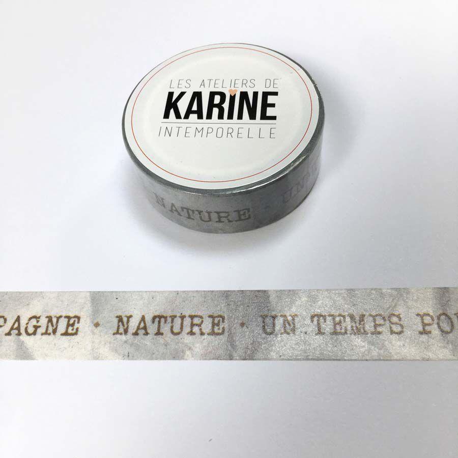 MASKING TAPE INTEMPORELLE - Texte Kraft