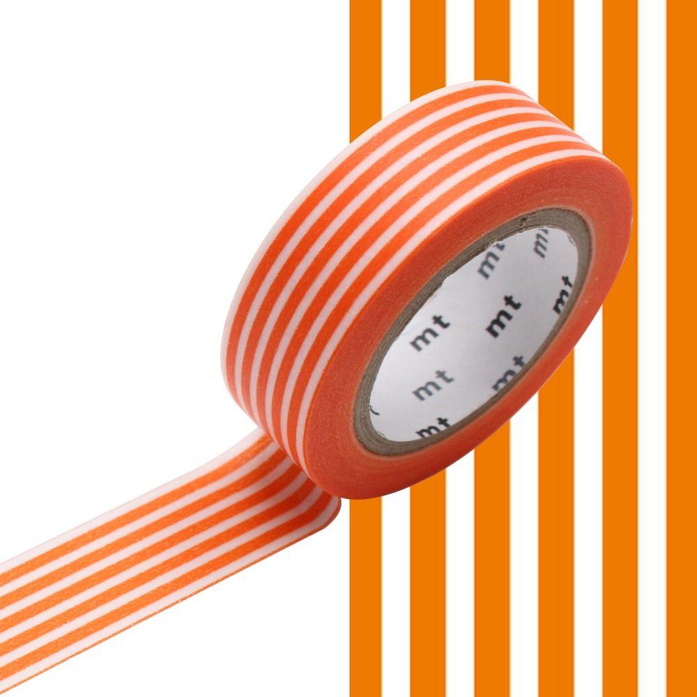 MASKING TAPE MOTIF lignes mandarine