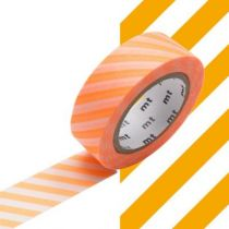 MASKING TAPE MOTIF rayures orange fluo