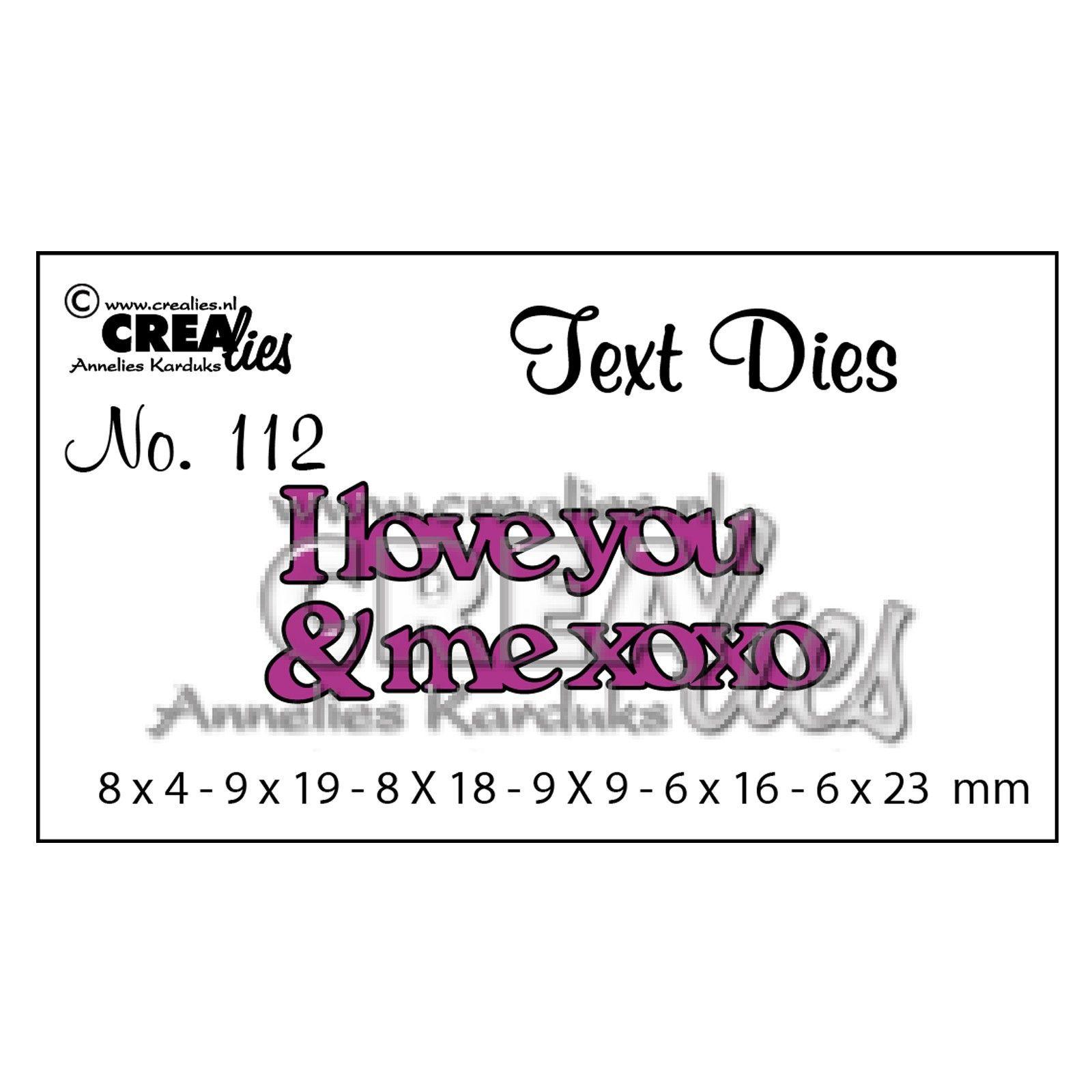 Matrice de coupe texte no. 112 I Love you & me xoxo