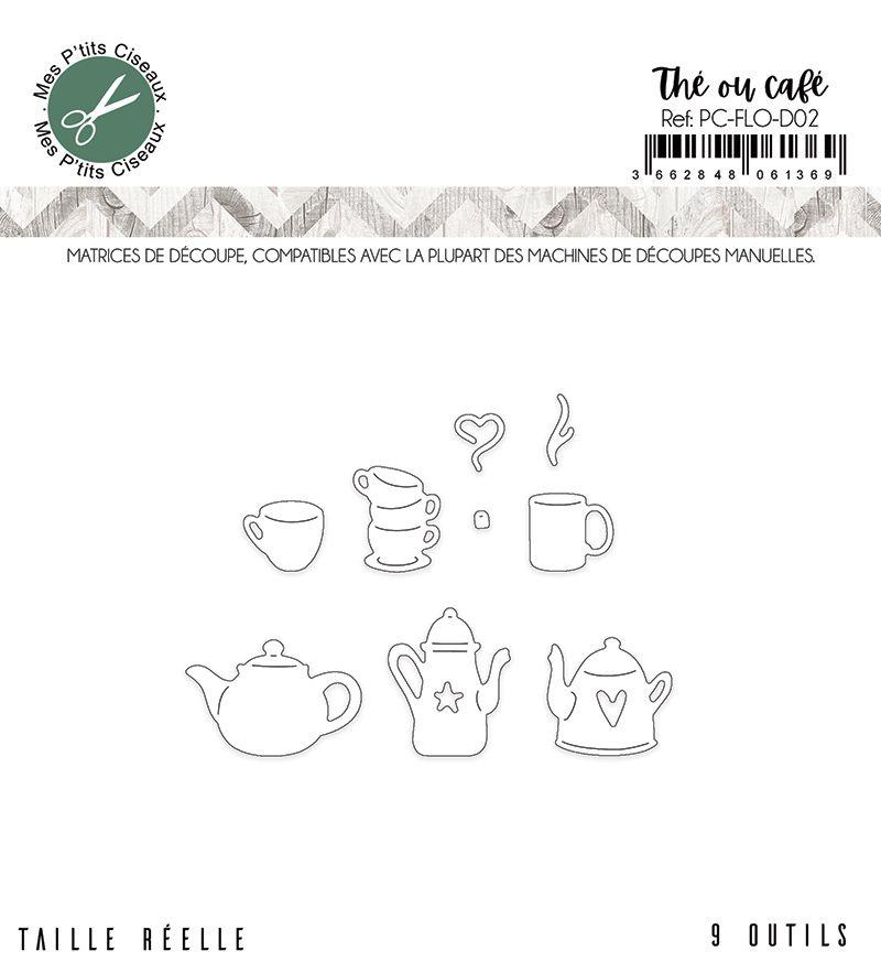 Matrices de découpe Thé ou café - Mes P\'tits Ciseaux