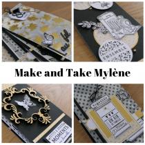 Mini atelier (Make and Take) 4 avril 14h30-15h30 mini album avec Mylène