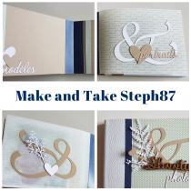 Mini atelier (Make and Take) 4 avril 9h30-10h30 mini album avec Steph87