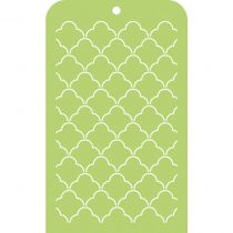 Mini Designer Template Scallop Lattice
