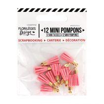 Mini pompons ROSE THÉ