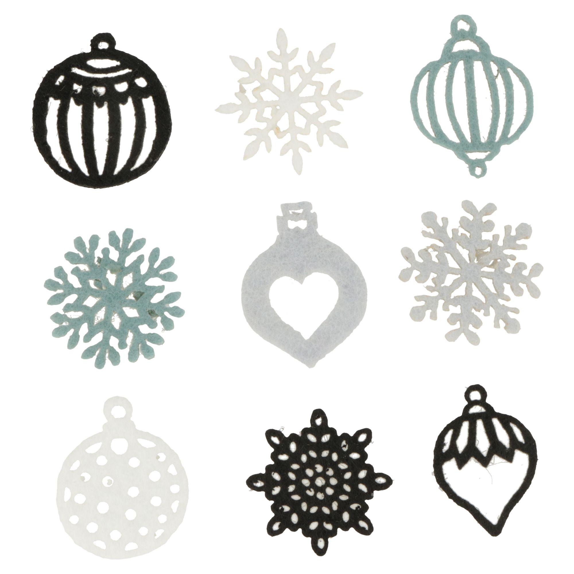 Mini silhouettes cosy Christmas boules