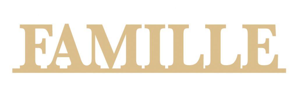 MOT AVEC BANDE FAMILLE MDF 3 MM