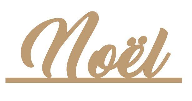 MOT AVEC BANDE NOEL MDF 3 MM