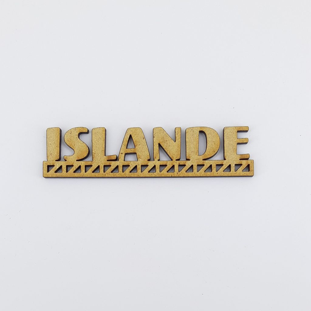 MOT BOIS PAYS D\'EUROPE - ISLANDE