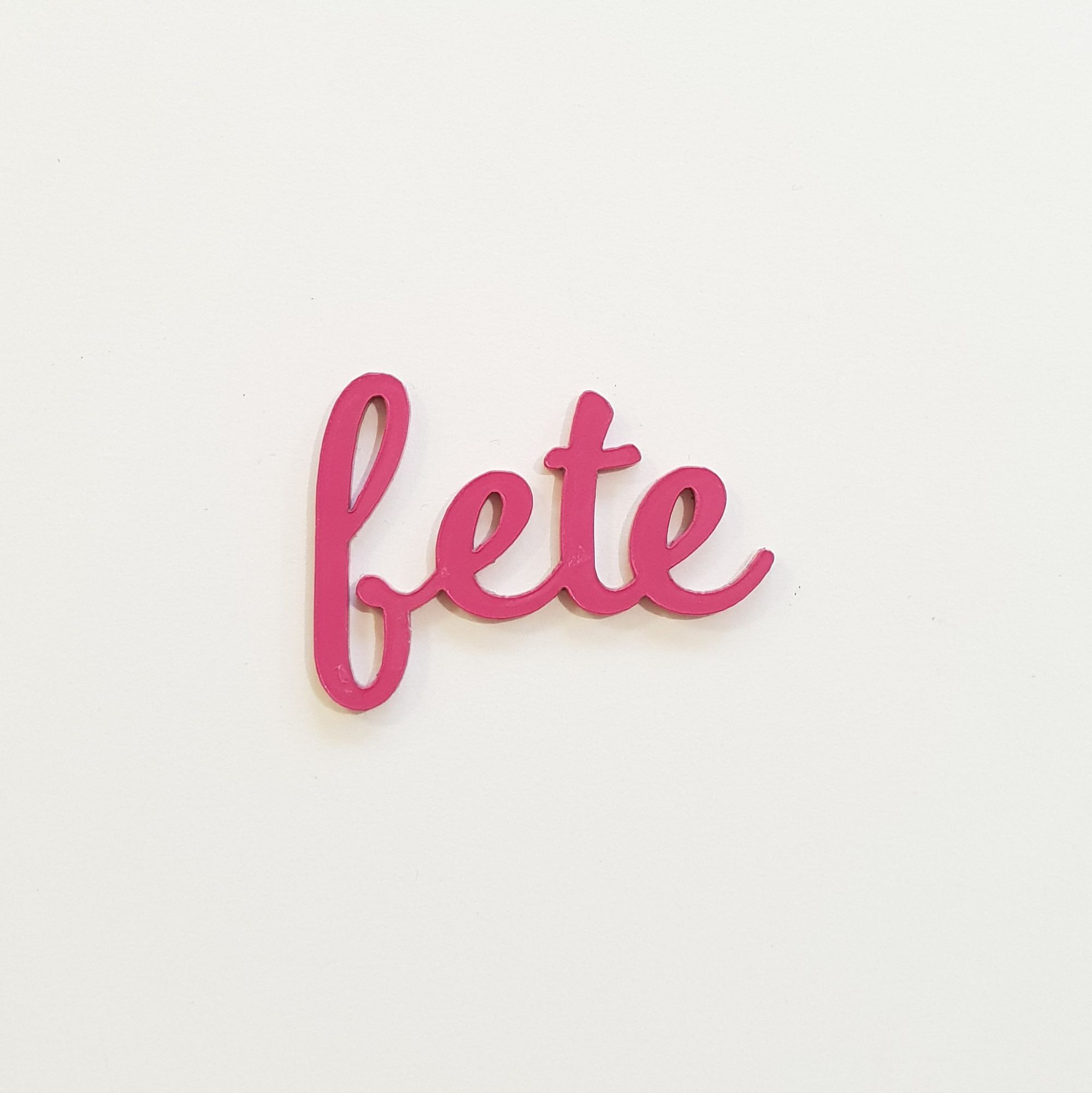 MOT EN PLEXI 1,6 MM FETE ROSE