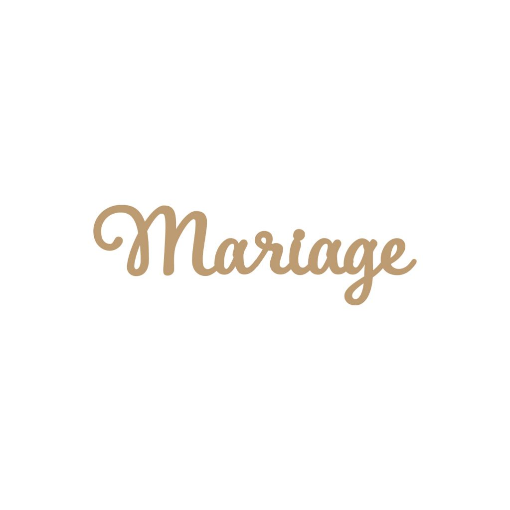 MOT GEANT MDF 3 MM MARIAGE