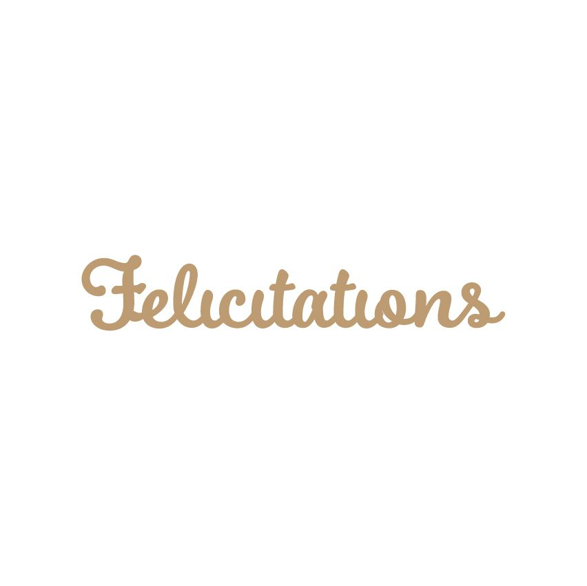 MOT MDF 3 MM FELICITATIONS