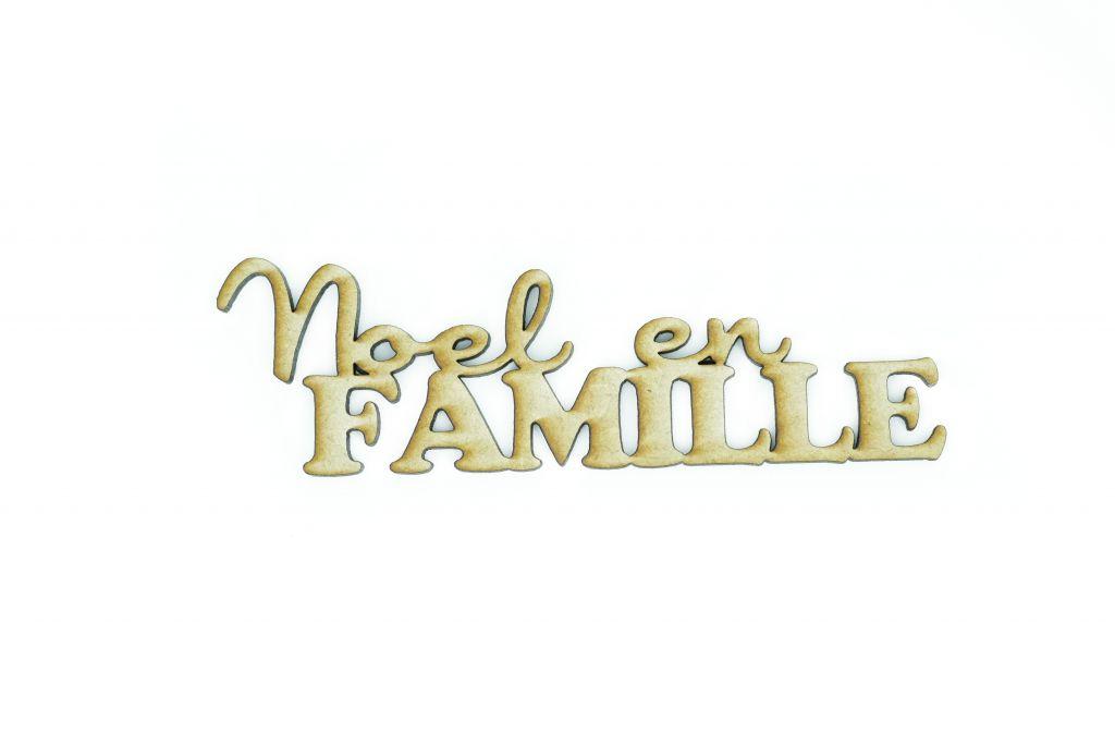 MOT MDF 3 MM NOEL EN FAMILLE
