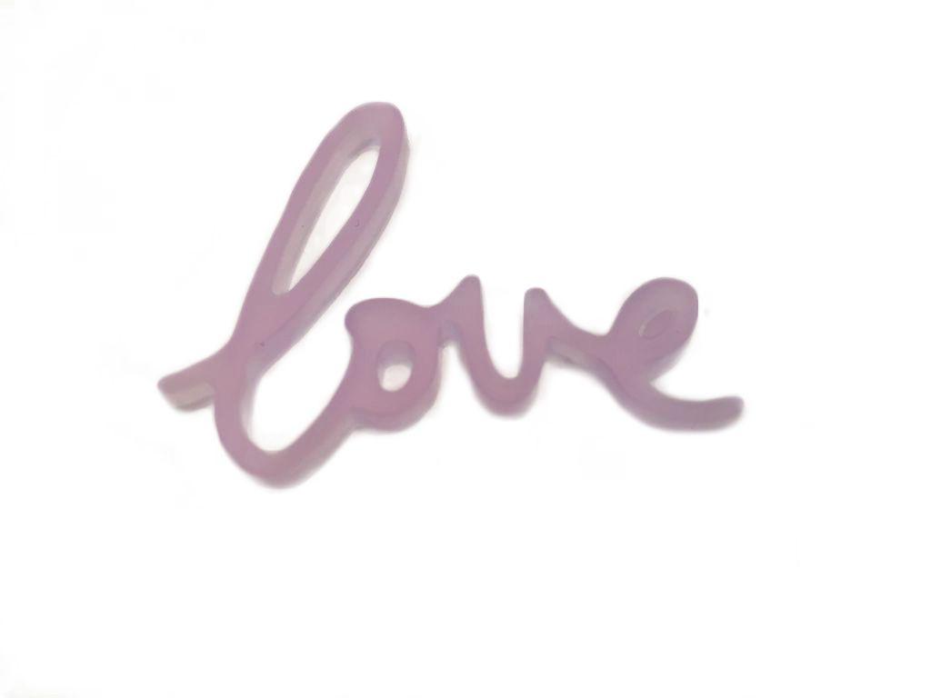 MOT PLEXI TRANSLUCIDE 3 MM LOVE MAUVE