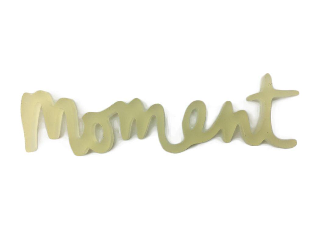 MOT PLEXI TRANSLUCIDE 3 MM MOMENT JAUNE