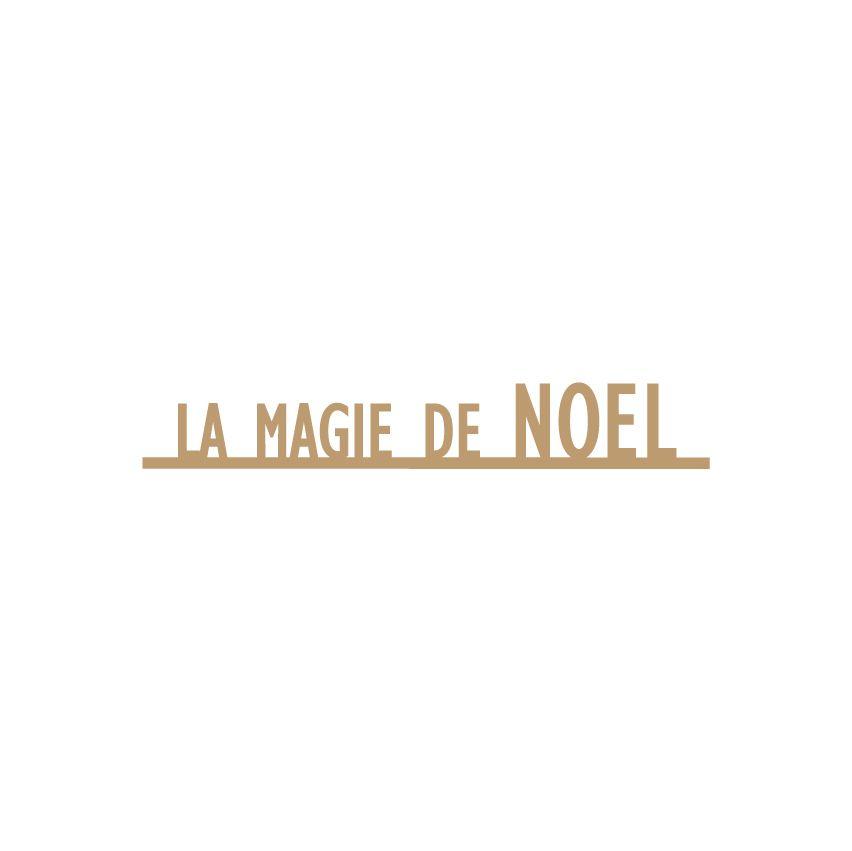 MOTS MDF 3 MM LA MAGIE DE NOEL