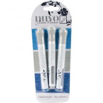 NUVO LOT DE 3 GLITTER MARKERS - Midnight Shadows