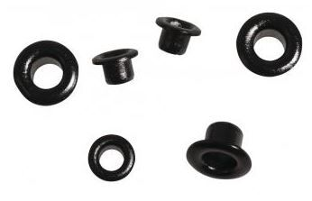 OEILLETS RONDS 4 et 8 mm - Noir